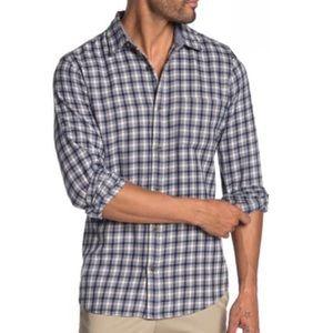 Wallin & Bros Gray Asher Plaid Button Shirt